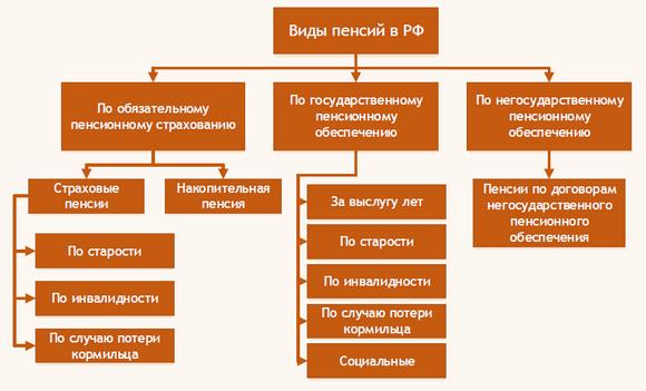 Виды пенсий в РФ. Виды трудовых и социальных пенсий в России